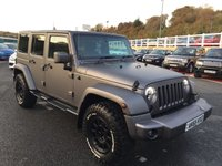 USED 2015 65 JEEP WRANGLER 2.8 SAHARA UNLIMITED CRD 4d AUTO 197 BHP Frozen Grey with Black leather, removable roof, special exhaust, wheels & more