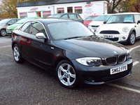 USED 2012 62 BMW 1 SERIES 2.0 118D EXCLUSIVE EDITION 2d 141 BHP FULL Service History only £30 Road Tax