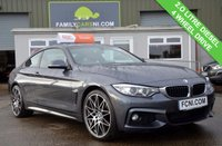 USED 2014 14 BMW 4 SERIES 2.0 420D XDRIVE M SPORT 2d 181 BHP HEATED RED LEATHER INTERIOR