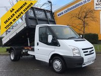 USED 2011 61 FORD TRANSIT 2.4 100 T350m Tipper 10.5ft Alloy Body Low Mileage DRW Ex Council Free UK Delivery