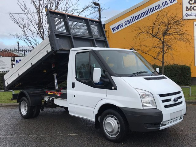 2011 61 FORD TRANSIT 2.4 100 T350m Tipper 10.5ft Alloy Body Low Mileage DRW Ex Council Free UK Delivery