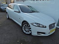 USED 2013 13 JAGUAR XF 3.0 D V6 PREMIUM LUXURY SPORTBRAKE 5d AUTO 240 BHP One Owner Full Jaguar History+Navigation+Leather