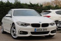 USED 2014 64 BMW 4 SERIES 2.0 420D M SPORT 2d 181 BHP PROFESSIONAL NAVIGATION, FULL LEATHER + HEATED SEATS
