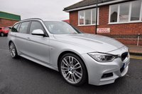 USED 2014 14 BMW 3 SERIES 3.0 330D M SPORT TOURING 5d AUTO 255 BHP 1 OWNER + FULL SERVICE HISTORY  + WIDESCREEN SAT NAV + BLUETOOTH + FULL LEATHER SPORT SEATS