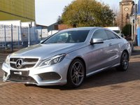 USED 2015 65 MERCEDES-BENZ E CLASS 2.1 E220 BLUETEC AMG LINE 2d AUTO FULL SERVICE HISTORY ~ COMAND SAT NAV AND MEDIA ~ ACTIVE PARK ASSIST ~ COLLISION WARNING SYSTEM ~ BLACK HEATED LEATHER ~ DAB ~ PARKTRONIC ~ PRIVACY GLASS ~ DVD ~ BLUETOOTH