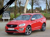"USED 2015 VOLVO XC60 2.4 D4 R-DESIGN LUX NAV AWD 5d 187 BHP 4X4, MASSIVE SPEC, FULL LEATHER (HEATED), SAT NAV, DAB RADIO, 18"" ALLOYS"