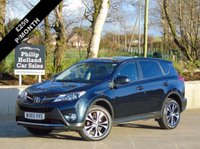 "USED 2015 65 TOYOTA RAV4 2.0 D-4D ICON 5d 124 BHP 4X4 GREAT SPEC, TOUCHSCREEN DAB RADIO, REVERSE CAMERA, 18"" ALLOYS, BLUETOOTH"