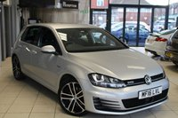 USED 2016 16 VOLKSWAGEN GOLF 2.0 GTD TDI 5d 182 BHP FULL VW SERVICE HISTORY + SAT NAV + BLUETOOTH + 18 INCH ALLOYS + HEATED FRONT SEATS + £30 ROAD TAX + CRUISE CONTROL + DAB RADIO + LED DRL'S