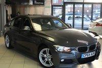 USED 2015 64 BMW 3 SERIES 3.0 330D M SPORT 4d AUTO 255 BHP FULL BMW SERVICE HISTORY + FULL BLACK LEATHER SEATS + SAT NAV + BLUETOOTH + DAB RADIO + ADAPTIVE CRUISE CONTROL + PARKING SENSORS + 18 INCH ALLOYS