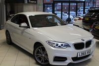 USED 2015 65 BMW 2 SERIES 3.0 M235I 2d AUTO 322 BHP FULL BMW SERVICE HISTORY + CORAL RED LEATHER SEATS + SAT NAV + BLUETOOTH + XENON HEADLIGHTS + HEATED FRONT SEATS + DAB RADIO + 18 INCH ALLOYS + REAR PARKING SENSORS