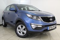 USED 2015 64 KIA SPORTAGE 1.7 CRDI 1 5DR 114 BHP SERVICE HISTORY + BLUETOOTH + CRUISE CONTROL + MULTI FUNCTION WHEEL + AIR CONDITIONING + 16 INCH ALLOY WHEELS
