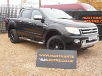 2015 FORD RANGER PICK UP, 2.2 LIMITED 4X4 DCB TDCI 4d 150 BHP (NAV) £15990.00