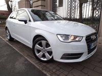 USED 2014 64 AUDI A3 1.6 TDI SPORT 3d 109 BHP *** FINANCE & PART EXCHANGE WELCOME *** 1 OWNER £ 0 FREE ROAD TAX BLUETOOTH PHONE AIR/CON DAB RADIO