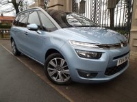 USED 2014 14 CITROEN C4 PICASSO 1.6 GRAND E-HDI AIRDREAM EXCLUSIVE PLUS 5d 113 BHP *** FINANCE & PART  EXCHANGE WELCOME ***  1 OWNER £ 20 ROAD TAX 7 SEATS SAT/NAV REVERSE CAMERA BLUETOOTH PHONE PARK ASSIST