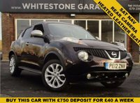 USED 2012 12 NISSAN JUKE 1.5 SHIRO DCI 5d 110 BHP LOW MILES, SAT NAV, HEATED LEATHER SEATS, REAR CAMERA, CRUISE AND CLIMATE CONTROL. FSH