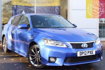 2012 LEXUS CT 1.8 200H F SPORT 5d AUTO 136 BHP £12750.00
