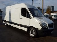 USED 2014 64 MERCEDES-BENZ SPRINTER 313 CDI LWB HI ROOF, 130 BHP [EURO 5], FULL SERVICE HISTORY, 1 COMPANY OWNER