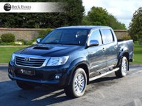 USED 2015 65 TOYOTA HI-LUX 3.0 INVINCIBLE 4X4 D-4D DCB 1d AUTO 169 BHP FULL LEATHER SATELITE NAVIGATION
