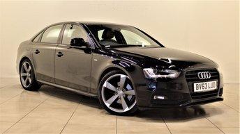 2013 AUDI A4 2.0 TDI S LINE BLACK EDITION 4d 148 BHP £13374.00