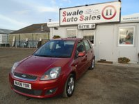 USED 2008 08 FORD FIESTA 1.2 ZETEC CLIMATE 16V 5d 78 BHP £24 PER WEEK OVER 3 YEARS, SEE FINANCE LINK BELOW