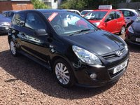 USED 2011 11 HYUNDAI I20 1.2 S LIMITED EDITION 3d 77 BHP LOW MILEAGE ,LIMITED EDITION MODEL WITH FULL SERVICE HISTORY