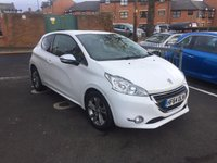 USED 2014 64 PEUGEOT 208 1.2 ALLURE 3d AUTO 82 BHP WITH CLIMATE CONTROL, LEATHER TRIM, ALLOY WHEELS, PRIVACY GLASS AND £0 ROAD TAX!...EXCELLENT FUEL ECONOMY!!..LOW CO2 EMISSIONS..£0 ROAD TAX...FULL HISTORY...ONLY 17126 MILES FROM NEW!...