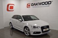 USED 2014 64 AUDI A3 1.6 TDI S LINE 5d 109 BHP *1 OWNER* STUNNING GLACIER WHITE BODY WITH REAR PRIVACY GLASS