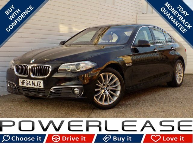 USED 2015 64 BMW 5 SERIES 2.0 520D LUXURY 4d AUTO 188 BHP 30 TAX SAT NAV HEATED SEATS