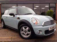 USED 2011 11 MINI HATCH ONE 1.6 ONE 3d 98 BHP Beautiful color, low mileage, FSH, 12 months mot, 3 month warranty