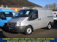 2012 FORD TRANSIT 140BHP 300 SWB 6 SPEED WITH FULL SERVICE HISTORY £6945.00