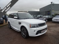 USED 2010 60 LAND ROVER RANGE ROVER SPORT 3.0 TDV6 HSE 5d AUTO 245 BHP Stunning Fuji White Range Rover With contrasting black leather trim with white stitching