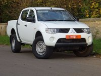 USED 2009 09 MITSUBISHI L200 2.5 DI-D 4Work Double Cab Pickup 4WD 4dr FSH LOW MILES NO VAT 2 OWNERS