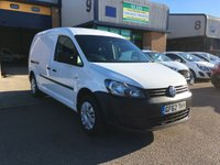 USED 2012 62 VOLKSWAGEN CADDY MAXI 1.6 C20 TDI BLUEMOTION TECHNOLOGY 1d 101 BHP FSH, A/C, BLUETOOTH, P/SENSORS, NEW VW CAMBELT & WATERPUMP FITTED. Full Service history, New Volkswagen Cambelt & waterpump fitted, A/C, Bluetooth, E/W, Radio/CD, Cruise control, parking sensors, Drivers airbag, Factory fitted bulk head, Side loading door, Ply-lined. Very Good Condition, 1 Owner, remote Central Locking, Drivers Airbag, CD Player/FM Radio, Steering Column Radio Control, Side Loading Door, Wood Lined, Barn Rear Doors