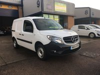 USED 2014 14 MERCEDES-BENZ CITAN 1.5 109 CDI BLUEEFFICIENCY 1d 90 BHP FSH, C/CONTROL, P/SENSORS, E/W, 6 MONTH WARRANTY & FINANCE ARRANGED. FSH, Parking Sensors, cruise control, e/w, Radio/CD, Drivers airbag, Factory fitted bulk head, twin side loading door, Ply-lined, caged bulkhead, White, Very Good Condition, 1 Owner, remote Central Locking, Drivers Airbag, CD Player/FM Radio, Steering Column Radio Control, Side Loading Door, Wood Lined, Barn Rear Doors, spare key