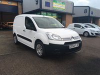USED 2014 64 CITROEN BERLINGO 1.6 625 ENTERPRISE L1 HDI 1d 74 BHP 15,000 MILES FROM NEW, FULLY LOADED, 6 MONTH WARRANTY & FINANCE ARRANGED. FSH, A/C, Bluetooth, Rear parking sensors, 3 seats, Radio/CD, Drivers airbag, Factory fitted bulk head, Side loading door, Ply-lined. WHITE, Very Good Condition, 1 Owner, remote Central Locking, Drivers Airbag, CD Player/FM Radio, Steering Column Radio Control, Side Loading Door, Wood Lined, Barn Rear Doors.