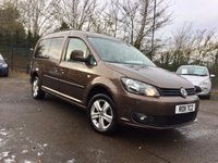 2011 VOLKSWAGEN CADDY MAXI 1.6 TDI  C20 LIFEBLUEMOTION TECHNOLOGY 5d 7 SEATS AND PRIVACY GLASS £8000.00