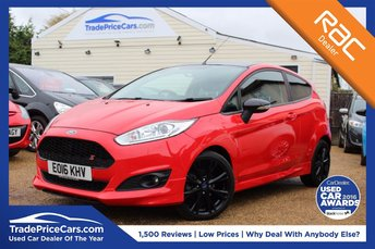 2016 FORD FIESTA 1.0 ZETEC S RED EDITION 3d 139 BHP £10750.00