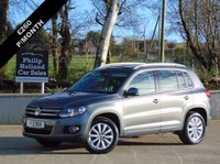 USED 2014 VOLKSWAGEN TIGUAN 2.0 MATCH TDI BLUEMOTION TECH 4MOTION DSG 5d AUTO 139 BHP 4X4 GREAT SPEC, TOUCHSCREEN DAB RADIO, FRONT AND REAR PARKING SENSORS, SAT NAV
