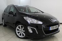 USED 2011 61 PEUGEOT 308 2.0 HDI SW ALLURE 5DR 150 BHP FULL SERVICE HISTORY + PANORAMIC ROOF + PARKING SENSOR + MULTI FUNCTION WHEEL + CLIMATE CONTROL + AUXILIARY PORT + 17 INCH ALLOY WHEELS