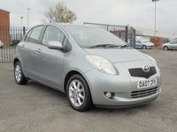 USED 2007 07 TOYOTA YARIS 1.3 SR 5d 86 BHP EXCELLENT CONDITION, FULL DEALER SERVICE HISTORY, 8 MONTHS MOT.