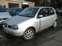USED 2002 02 SEAT AROSA 1.0 S 3d 50 BHP CHEAP RUN+MOT JUNE 2018