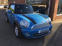 USED 2014 14 MINI CONVERTIBLE 1.6 COOPER 2 DOOR AUTO 122 BHP IN MET BLUE WITH ONLY 12000 MILES APPROVED CARS ARE PLEASED TO OFFER THIS  MINI CONVERTIBLE 1.6 COOPER 2 DOOR AUTO 122 BHP IN MET BLUE WITH ONLY 12000 MILES FROM NEW WITH A FULL SERVICE HISTORY A TRULY LOVELY MINI CABRIO WITH SUPER LOW MILEAGE.