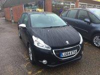 2014 PEUGEOT 208 1.2 ACTIVE 5DOOR 82 BHP IN BLACK IDEAL FIRST CAR. £4990.00
