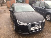 USED 2015 15 AUDI A1 1.4 TFSI SPORT 3 DOOR 123 BHP IN SOLID BLACK STUNNING CONDITION. APPROVED CARS ARE PLEASED TO OFFER THIS  AUDI A1 1.4 TFSI SPORT 3 DOOR 123 BHP IN SOLID BLACK STUNNING CONDITION WITH A VERY LOW 22000 MILES AND A ONE OWNER WITH SAT NAV A GREAT AUDI A1 IN BLACK WITH A FULL AUDI SERVICE HISTORY.