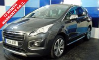 USED 2014 14 PEUGEOT 3008 1.6 HDI ALLURE 5d 115 BHP A beautiful example of this highly regarded and much sought after suv ,this car is finished in a very appealing metalic grey with all the allure refinements including satelite navigation ,bluetooth, panoramic glass roof,half leather interior digital climate control ,plus lots more this car needs to be viewed to be appreciated and drives as good as it looks