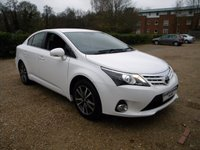 USED 2015 15 TOYOTA AVENSIS 1.8 VALVEMATIC ICON 4d 147 BHP Sat Nav. Good MPG . Rear Parking Camera