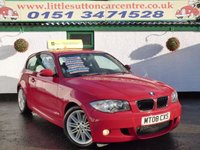 USED 2008 08 BMW 1 SERIES 1.6 116I M SPORT 3d 121 BHP M SPORT, FULL SERVICE HISTORY, FINANCE AVAILABLE