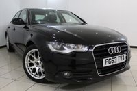 USED 2013 63 AUDI A6 2.0 TDI SE 4DR 175 BHP LEATHER SEATS + SAT NAVIGATION + PARKING SENSOR + BLUETOOTH + CRUISE CONTROL + MULTI FUNCTION WHEEL + CLIMATE CONTROL + 17 INCH ALLOY WHEELS