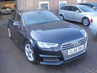 USED 2016 66 AUDI A4 2.0 TFSI S LINE 4d AUTO 188 BHP ANY PART EXCHANGE WELCOME, COUNTRY WIDE DELIVERY ARRANGED, HUGE SPEC