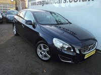 USED 2012 12 VOLVO S60 2.0 D3 SE LUX 4d 161 BHP Bluetooth And Full Leather+6 Speed Gearbox